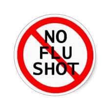 no flu shot