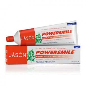 Jason PowerSmile peppermint toothpaste nontoxic no fluorid